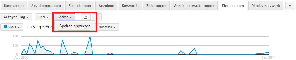 Pfad um Klickbetrug bei Google AdWords anzuzeigen - Schritt 3