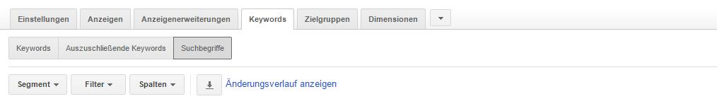 Adwords Optimierung - Suchbegriffe
