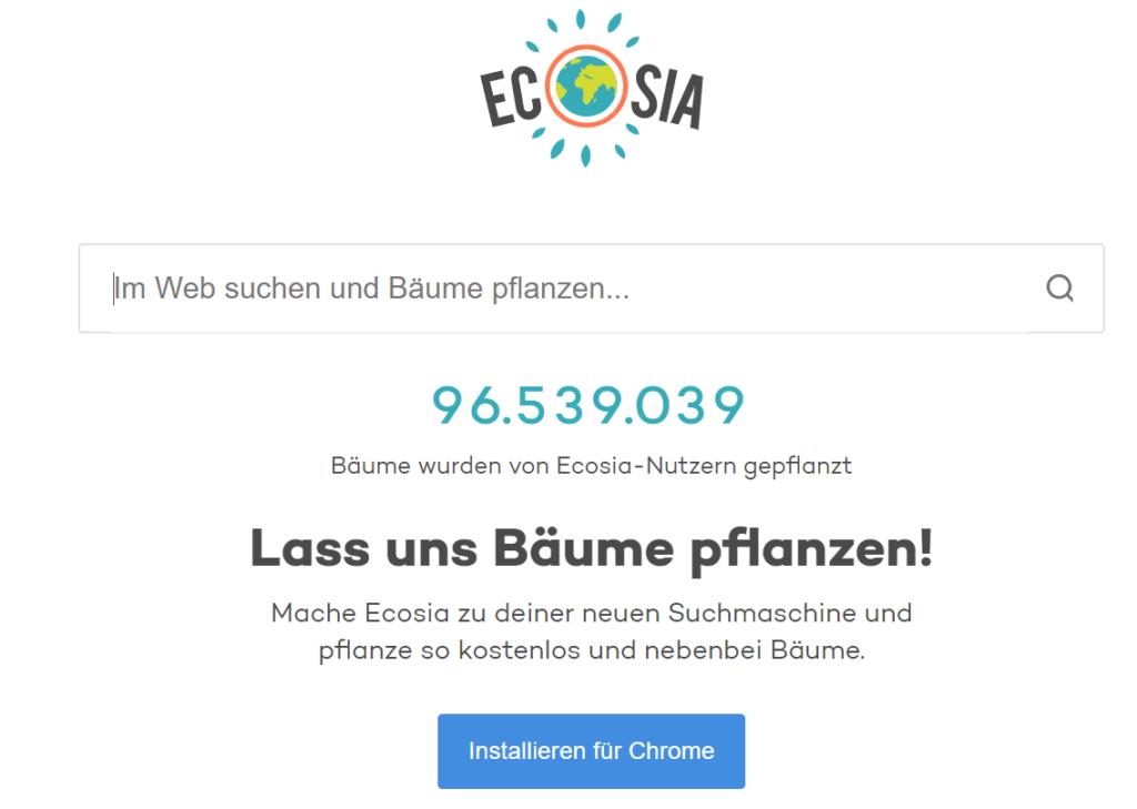 Ecosia Suchleiste