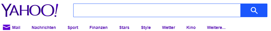 Yahoo Suchleiste