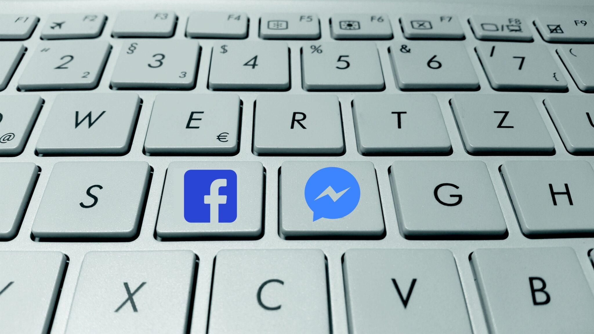blue facebook button