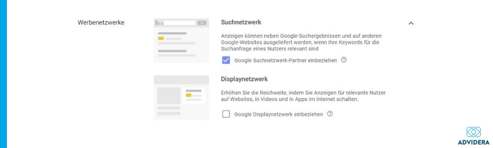 Werbenetzwerke Google Ads Fehler