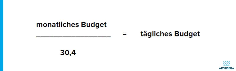 Berechnung Tagesbudget