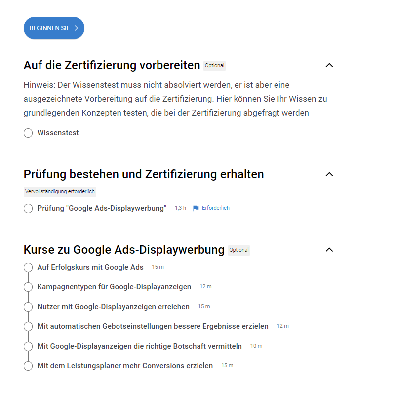 Google-Ads-Zertifizierung